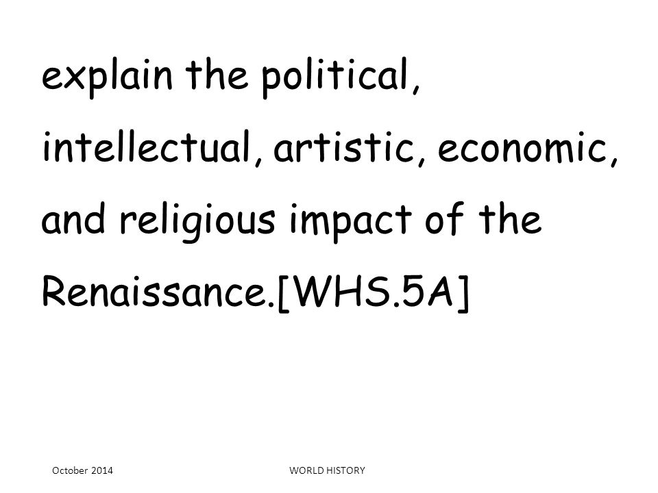 political effects of the renaissance essay The renaissance was significant on the development of western europe and the impact it had was immense the renaissance not only influenced the worlds of art, music, and literature, but also the worlds of politics, religion, and society.